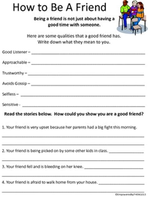 Social Skills Worksheets Adults by Friends Social Skills Worksheets By Empowered By Them Tpt