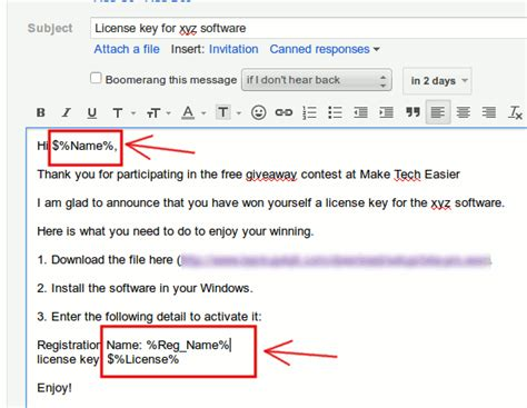 how to send a mail merge in gmail