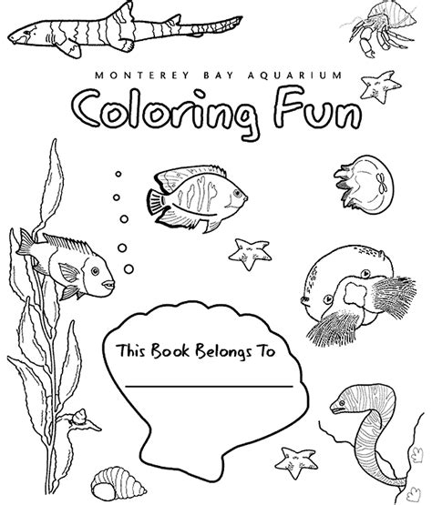 the aquarium colouring books great coloring book of ocean creatures from the monterey bay aquarium deep blue sea science