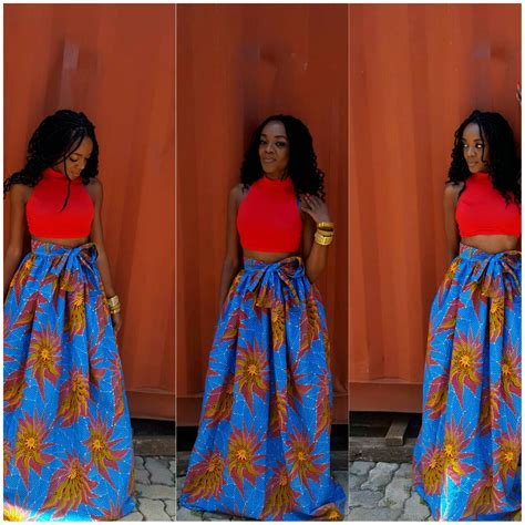Sunita Maxi pictures of skirt sown with ankara material ankara skirt ankara maxi skirts ankara fabric by