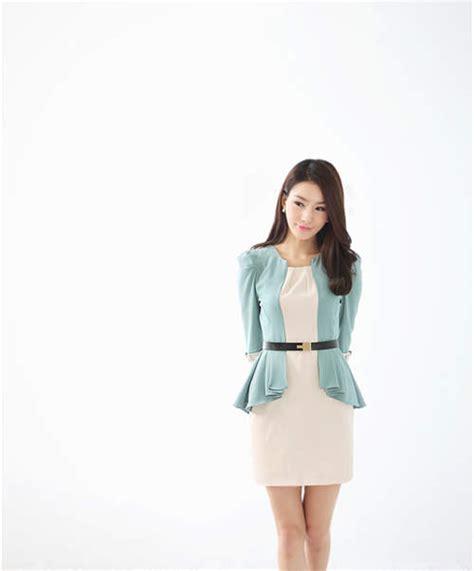 Pakaian Wanita Setelan Seoul Peplum Terbaru baju korea wanita peplum jaket korea baju korea