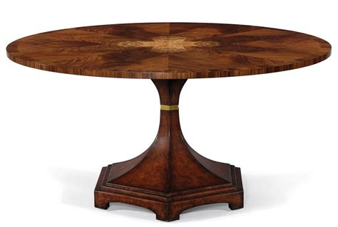 modern classic round dining table exquisite marquetry