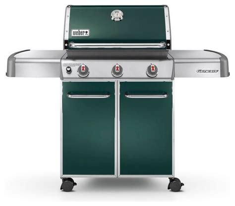 weber genesis e 310 3 burner propane gas grill green