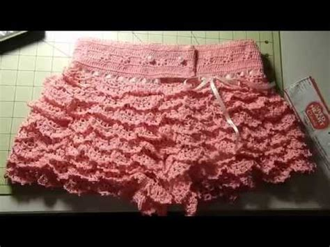 imagenes de short tejido a ganchillo short con vuelos a crochet por rosario soto youtube