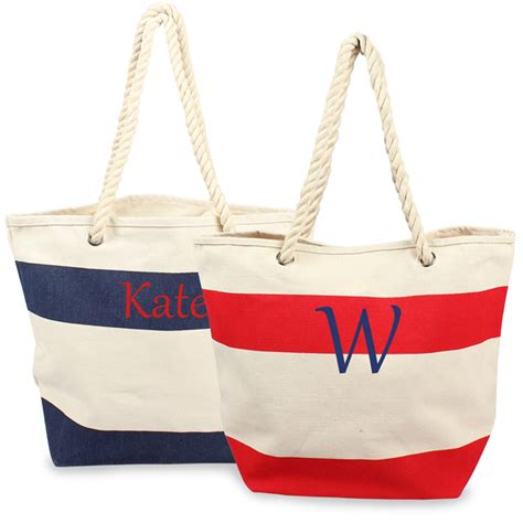 Couture Preppy Sailing Tote Establishment Slouch Bag by Nautical Tote Bag