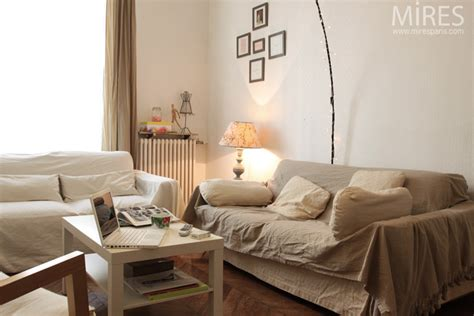Deco Blanc Et Beige deco salon beige et blanc