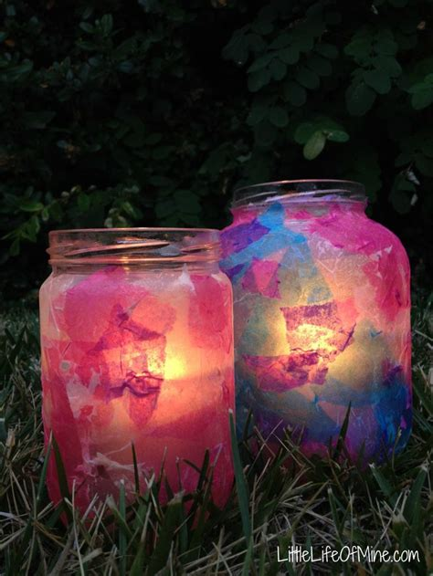 Decoupage Candle Jars - decoupage ramadan and eid lanterns ramadan treats