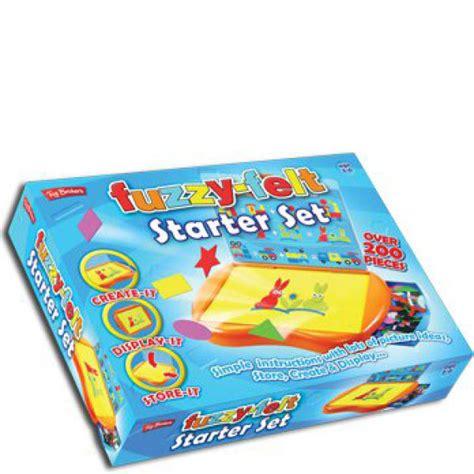 Mainan Edukasi Fuzzy With 20 Felt Play Pieces And 5 Playscenes fuzzy felt starter kit iwoot