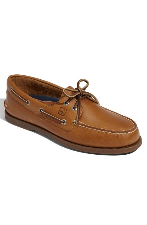 sperry top sider authentic original boat shoe in brown for