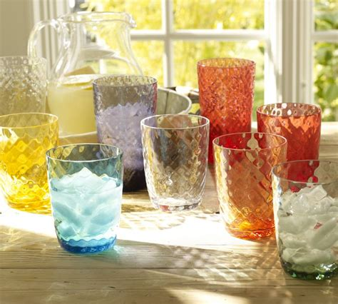 outdoor barware pottery barn oceana outdoor drinkware the collected room