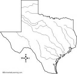 major rivers oftexas outline map enchantedlearning