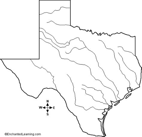 blank map of texas blank map of texas rivers
