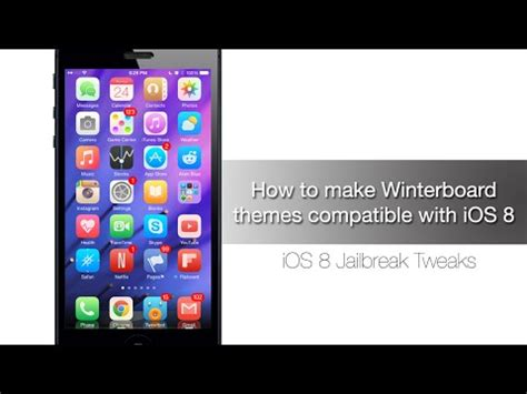 make themes for iphone how to make winterboard themes compatible with ios 8