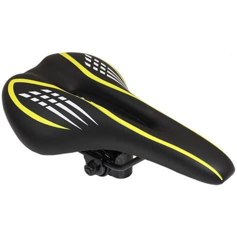 most comfortable saddle for hybrid bike pedalpro black yellow mountain bike saddle mtb hybrid