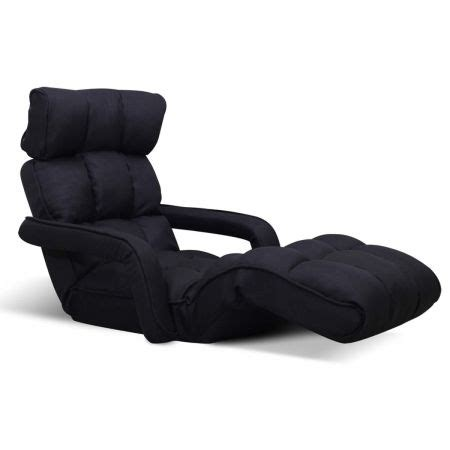 adjustable lounger with arms lounge sofa bed black sales