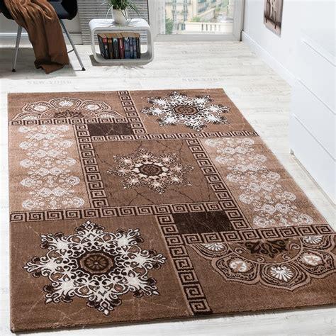 teppich ornament designer carpet classic ornaments chandelier look beige