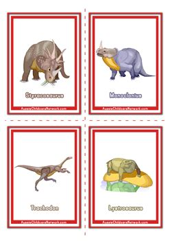 printable montessori flashcards dinosaur flashcards aussie childcare network