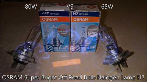 h7 len 80 watt osram 80w vs 65w super bright off road bulb halogen l