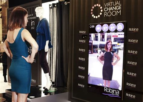 The Technology To Hit The Fitting Rooms Interactive Mirrors changing room search digital signage