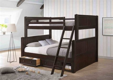 full over queen bunk beds dillon extra long full over queen bunk bed