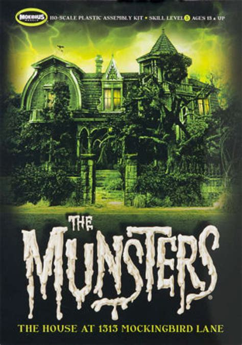 munsters house in color moebius models 0929 1 87 the munsters the house at 1313 mockingbird lane kit first look