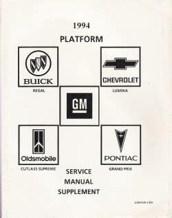 small engine repair manuals free download 1994 oldsmobile 88 parental controls 1994 gm service manual supplement regal lumina grand prix cutlass supreme