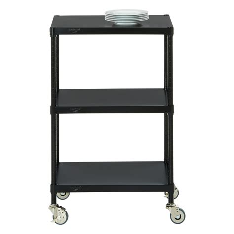 inter metro shelving intermetro solid shelf serving cart the container store