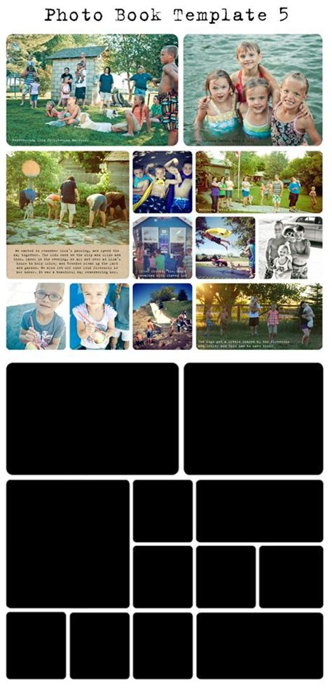 free project life digital photo book templates my crazy