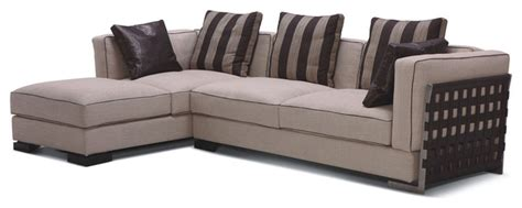 striped sectional sofa classic style two pieces fabric sectional with striped