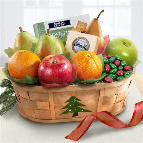 merry christmas fruit and snacking basket all about