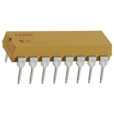 330 x 8 resistor array 4116r dil resistor array network 28 images bourns 4116r 1 221lf 16pin 100v 2 2 25w mld dip