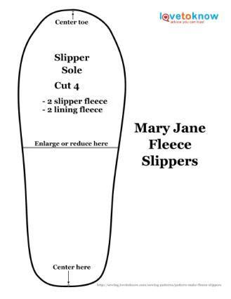 slipper template pattern to make fleece slippers lovetoknow
