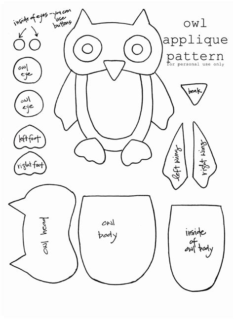 free printable owl pattern template owl template cards patterns coloring home