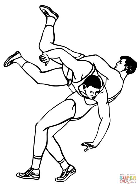 boxing wrestling coloring pages coloring pages