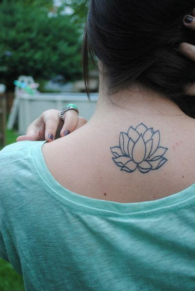 Tattoo Placement For Moms | lotus flower tattoo to get with my mom just different