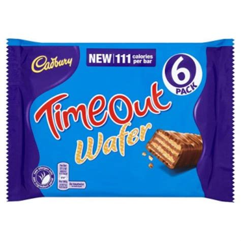 Cadbury Chocolate Wafer Zip cadbury timeout wafer 6 pack chocolate bars multipacks chocolate food drink