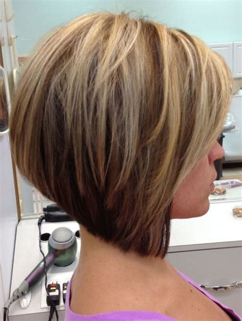 medium hair stacked in back a short stacked bob hairstyles back view 2017 2018