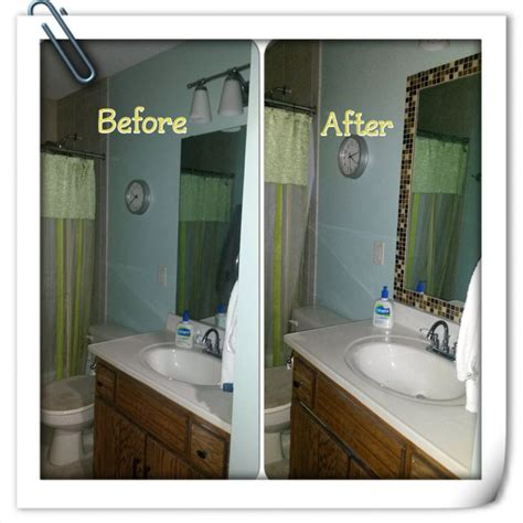 tile bathroom mirror frame mosaic tile framed bathroom mirror inspired