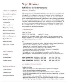 Resume Sles For Substitute Teachers Free Resume 40 Free Word Pdf Documents Free Premium Templates