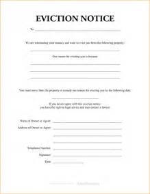 Blank Eviction Notice Exle Mughals Printable Eviction Notice Template