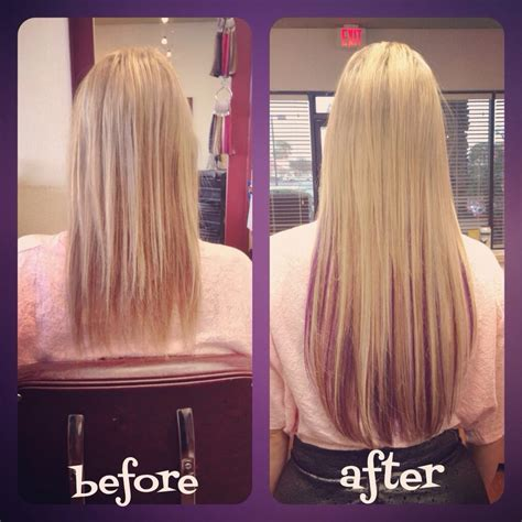 fusion hair extensions before and after before and after 18 quot keratin fusion hair extensions yelp