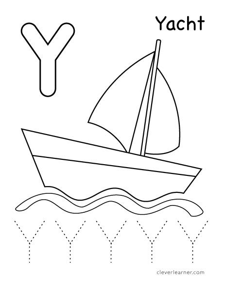 coloring pages for y letter y writing and coloring sheet