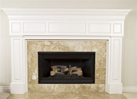Pebble Tile Fireplace by Fireplaces Source Inc