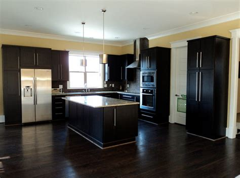 dark kitchen cabinets with dark floors 22 beautiful kitchen colors with dark cabinets home design lover
