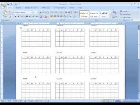 Calendario Word 2007 2010 Cronograma Relacionados Con 2010