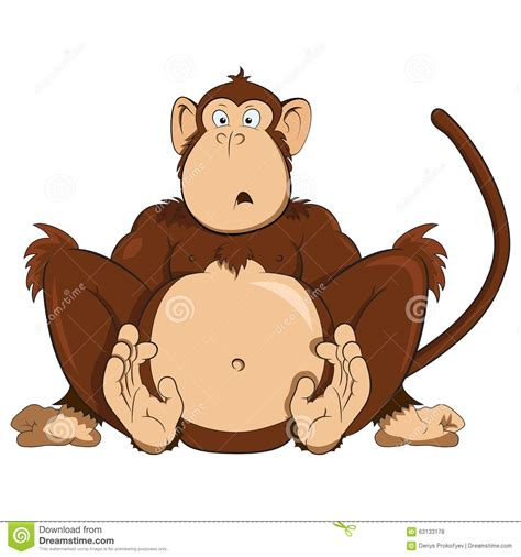 new year monkey illustration vector of surprised monkey stock vector image 63133178