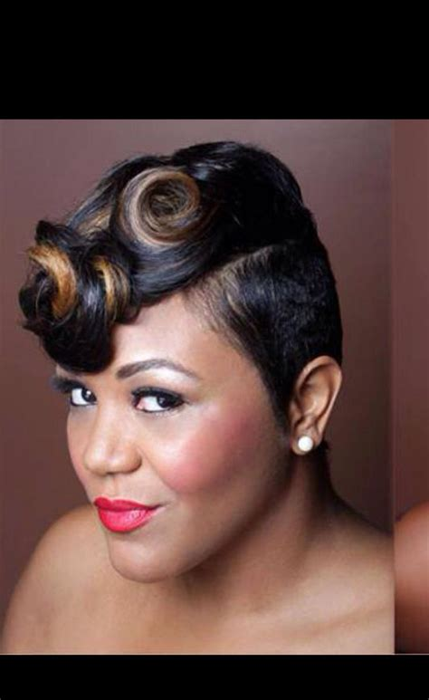 pin curls for black women pin curls updo hairstyle for black women black hair styles