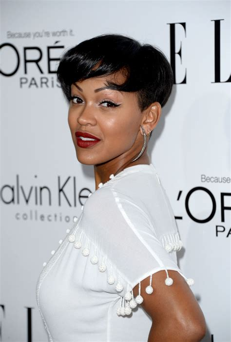 pictures of meagan good hair 2014 meagan good short cut with bangs short cut with bangs