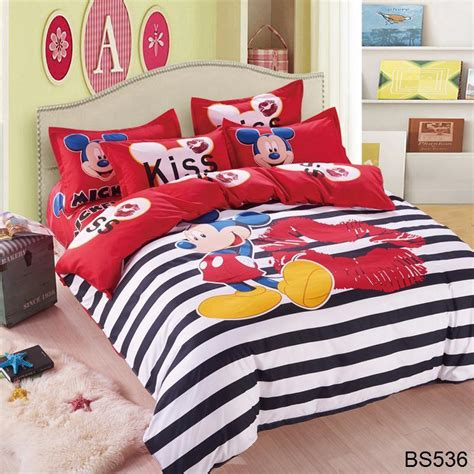 black and white mickey mouse comforter cotton bed linen mickey and minnie kids mouse bedding sets