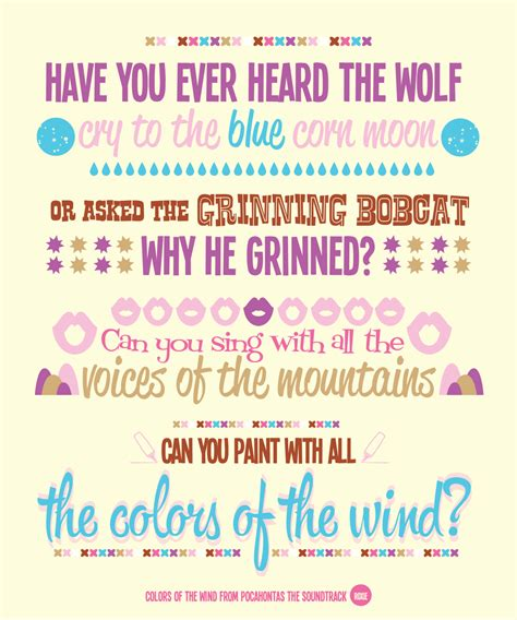 colors of wind lyrics quot colors of the wind quot pocahontas disney pixar